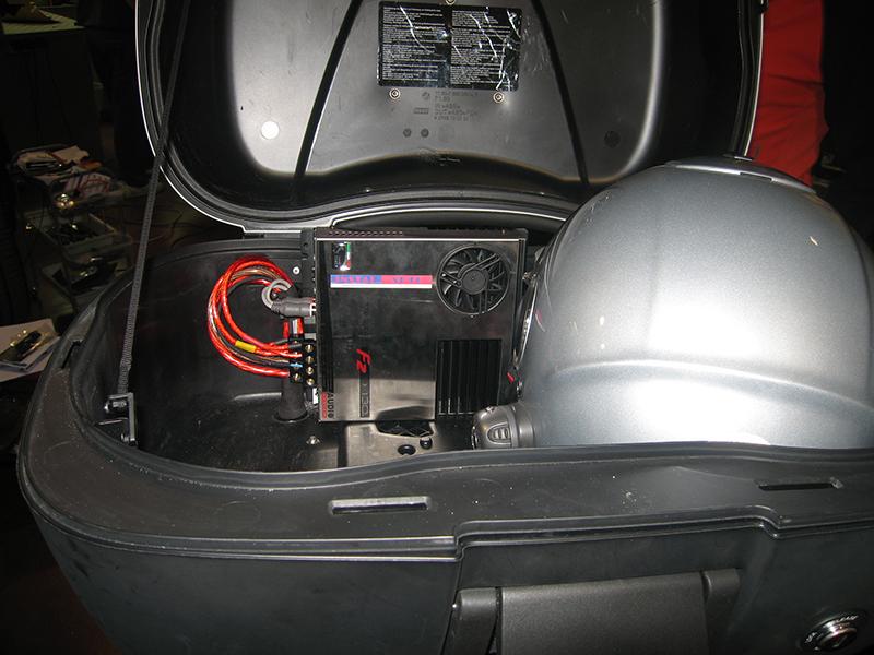 amplificador en moto